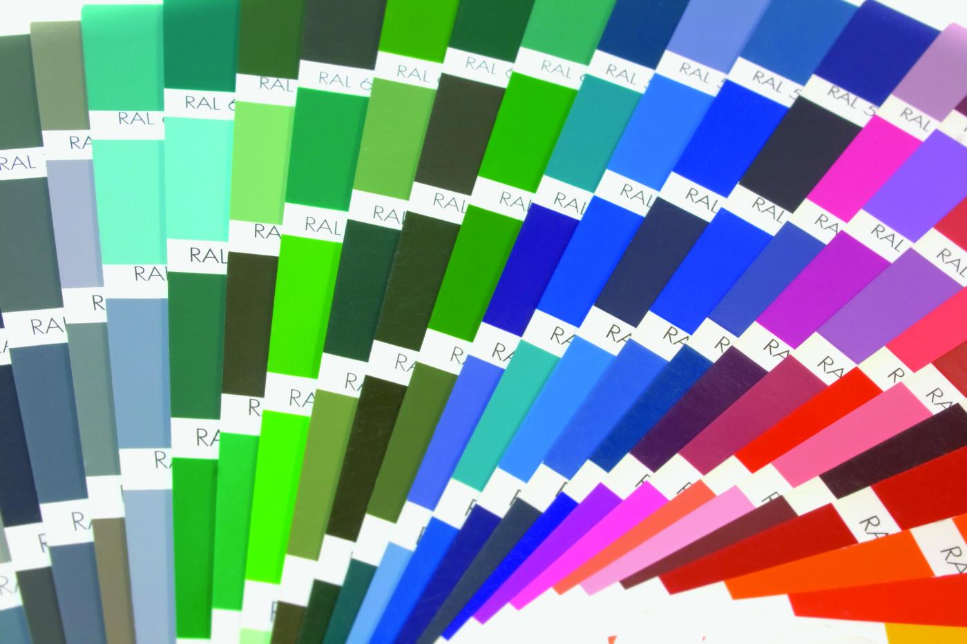 Powder Coat Paint Color Chart